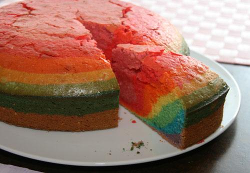 Regenbogenkuchen halloween feiern for Fertigküchen
