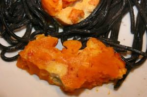Fledermaus aus Kürbis-Omelett