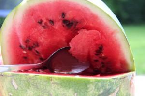 Melone aushöhlen